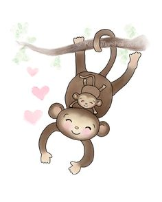 He encontrado este interesante anuncio de Etsy en https://www.etsy.com/es/listing/212114888/monkey-nursery-art-monkey-baby-baby-and