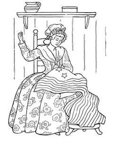 Another Betsy Ross coloring sheet.