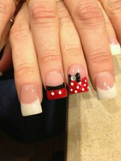 Mickey nails. Thinking of making white tips black, gold, or yellow instead.