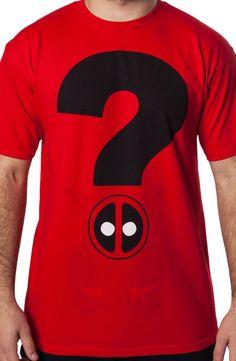 Deadpool Question Mark Shirt: Marvel Comics, Deadpool Mens T-shirt