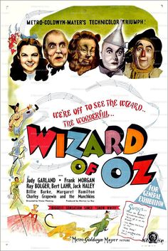 Wizard of Oz Movie Judy Garland Frank Morgan 1939 Poster by nukes,