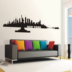 deko-shop-24.de-Wandtattoo-Skyline New York