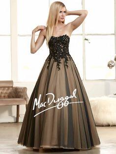 Black Ball Gown   Lace Prom Dress   Mac Duggal 62107H