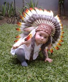 ... Native American Costume | eBay. N01 For 9 to 18 month Toddler / Baby three by THEWORLDOFFEATHERS  sc 1 st  Pinterest & Indian Chief Headdress 55cm HOT Pink Stunning Deluxe Native American ...