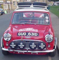 Works replica Mini Cooper S Red Mini Cooper, Mini Cooper Classic, Classic Mini, Classic Cars, Mini Lifestyle, Classic Motors, Car In The World, Rally Car, Mini Me