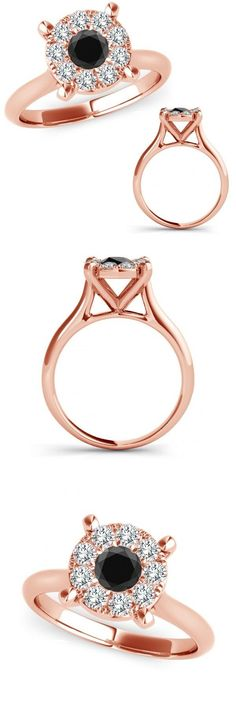 Other Engagement Rings 164308: 0.50 Ct Black Diamond Anniversary Engagement Women Solitaire Ring 14K Rose Gold -> BUY IT NOW ONLY: $556.33 on eBay!