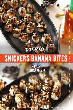 Frozen Snickers Banana Bites   Madhava