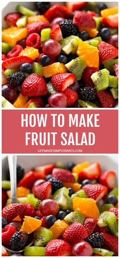 Learn how to make fruit salad the right way! This fresh, vibrant side dish is a spring and summer staple and can be prepped in under 15 minutes. Hawaiian Fruit Salad, Tropical Fruit Salad, Best Fruit Salad, Fruit Salad Recipes, Fresh Fruit, Fruit Dips, Fruit Platters, Fruit Salads, Healthy Salads