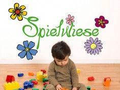 Wandsticker Spielwiese - erhältlich auf www.klebespass.de