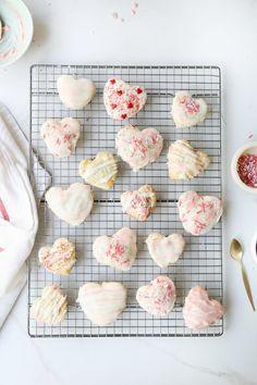 valentine's day treats- heart shaped raspberry pop-tarts