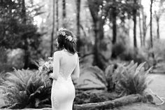 Couture Silk Wedding Dress-Sheath Wedding Gown-Sheer Back-Sleeveless Wedding Dress-Illusion Neckline (Style # Lily PB068)-Custom Order