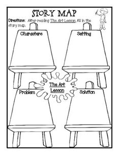 """K-1 Lesson Plan & Book Activities With """"The Art Lesson"""" by Tommie dePaola"""