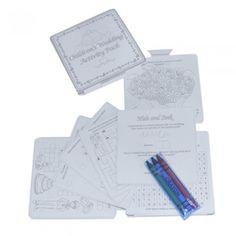 White & Silver Wedding Activity Pack for Children