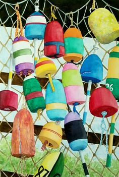 Buoys on a Net