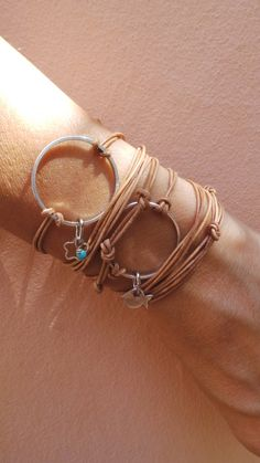 Karma bracelet. Circle bracelet. Karma wrap bracelet. Infinity circle charm…