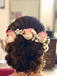 Indian Bridal Hairdo Wedding Hairs 62 Ideas For 2019 Bridal Hair Buns, Bridal Hairdo, Hairdo Wedding, Indian Wedding Hairstyles, Bride Hairstyles, Updo Hairstyle, Hairstyle Ideas, Stylish Hairstyles, Celebrity Hairstyles
