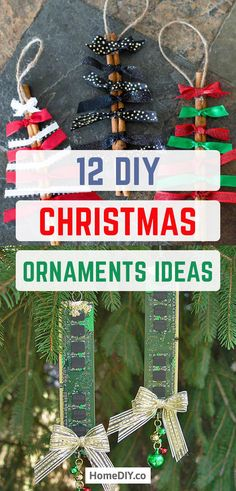 DIY Christmas Orname DIY Christmas Ornaments Ideas Elegant Easy Ornaments and Crafts. Looking for the best ideas of DIY Christmas ornaments? You'll find here some great examples of 12 easy and elegant DIY Christmas ornaments! Easy Ornaments, Diy Christmas Ornaments, Christmas Tree Decorations, Handmade Christmas, Holiday Decor, Decor Crafts, Home Crafts, Diy And Crafts, Xmas Crafts