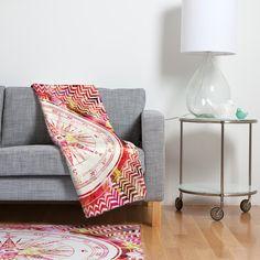 Bianca Green Follow Your Own Path Pink Fleece Throw Blanket