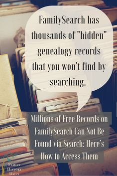 FamilySearch's Browse-Only Collections: The Hidden Records Many Miss Genealogy Tips: Find hidden genealogy record collections on FamilySearch with this trick. This free genealogy research site can help you grow your family tree fast. Free Genealogy Records, Free Genealogy Sites, Genealogy Forms, Family Genealogy, Genealogy Humor, Genealogy Chart, Ancestry Records, Lds Genealogy, Ancestry Websites