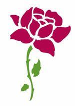 Pochoir Adhésif 7 x 11 cm GRANDE ROSE ET EPINES