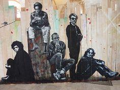 "Jef Aérosol ""Jimmy Hendrix, Jean-Michel Basquiat, Keith Haring, Andy Warhol and John Lennon"" à Orléans"