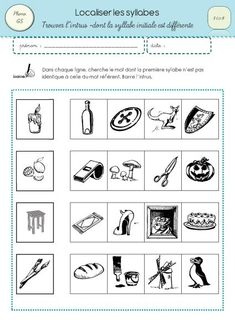 Localiser les syllabes 3 - Read more about syllabe, localiser, syllabes, phono, trouver and initiale. 1st Grade Math Worksheets, Initials, Teaching, Education, Cycle 1, Sons, French Immersion, Conscience, Recherche Google
