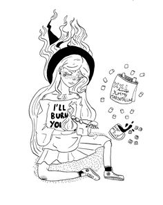 being a fire witch come in handy Inktober, Witch, Fire, Drawings, Day, Illustration, Instagram, Illustrations, Witches