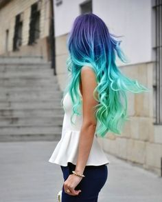 Summer Hair Colors: Crazy for Color This Seas -don't wow know what board to put this on but i really enjoy this hair. More for like a party than every day Burt it's definitely done really well
