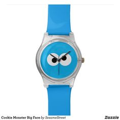 Shop Cookie Monster Big Face Watch created by SesameStreet. Monster Face, Cookie Monster, Big Face Watches, Presents For Kids, Disney Nails, Watch Faces, Cool Gifts, Fashion Accessories, Shop