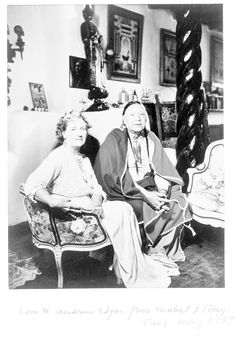 Mabel Dodge Luhan and Tony Luhan what I wanted before the corruption New Mexico Style, New Mexico Usa, Mabel Dodge Luhan, A Hundred Years, South Of The Border, Georgia O Keeffe, High Road, Indian Tribes, All Things New