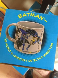The World's Greatest, Detective, Tv Shows, Fonts, Batman, Comic Books, Mugs, Tableware, Designer Fonts