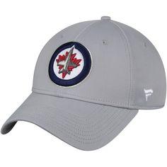 9f25ee65fa1 Men s Winnipeg Jets Fanatics Branded Gray Elevated Core Structured - Adjustable  Hat