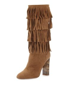 c42293dcb9d942 Jazmine Fringed Suede Boot