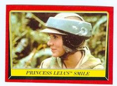 Return of the Jedi Star Wars trading card 1983 Topps #73 Princess Leia smiles Carrie Fisher