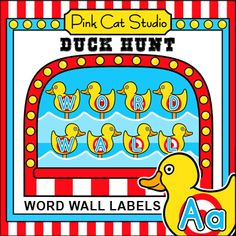 These fun Carnival Duck Hunt theme word wall labels will look fantastic on your kindergarten classroom wall! This set is so versatile because you can make any labels and words that you want with the included blank cards and editable Powerpoint files. Circus Theme Classroom, Classroom Jobs, Classroom Walls, Kindergarten Classroom, Classroom Activities, Classroom Decor, Word Wall Labels, Fun Educational Games, Theme Words