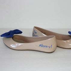 Doctor Who Allonsy flats with bowties by PinkoMinko on Etsy