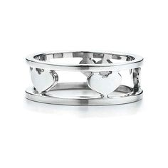 Bling Jewelry Sterling Silver Double Wired Heart Band Ring ($9.99) ❤ liked on Polyvore featuring jewelry, rings, grey, sterling silver anniversary rings, heart shaped rings, sterling silver wire ring, band rings and sterling silver band rings