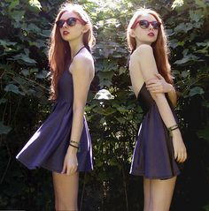 American Apparel Sunglasses, American Apparel Dress - You dont see what you possess, a beauty calm and clear - Eliza Isabel