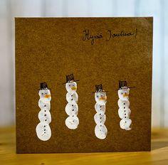 Jouluaskartelu lapsille Hobbies And Crafts, Diy And Crafts, Crafts For Kids, Paper Crafts, Preschool Christmas, Christmas Crafts, Xmas, Diy Cards And Envelopes, Fingerprint Cards