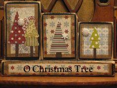 O Christmans Tree Winter Sign Word Blocks. $24.00, via Etsy.