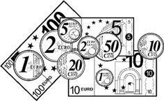 Tres fichas con monedas y billetes de euro sin color, para recortar y pegar en los ejercicios de las libretas. El autor de los pictogramas esSergio Palao, su procedencia esARASAACy licencia:CC (BY-NC-SA). Monedas de € Billetes de 5 a 50 € Billetes de 100 a 500 €   Si …