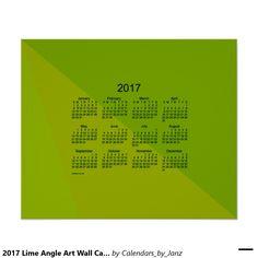 2017 Lime Angle Art Wall Calendar by Janz Poster