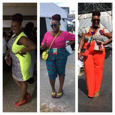 My Eye on Fashion - @JITG9 Weekend Edition. Look one - @wamuirucouture dress with #ankarafabric. Look two - @wamuirucouture #peplum #capri pant with #ankarafabric. Look three - @wamuirucouture #wideleg #jumpsuit with #ankarafabric. Designed by @iluvsumqui. Styled by yours truly.
