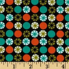 Atomic print Fabric Teal Fabric, Retro Fabric, Michael Miller, Vintage Bar, Light Teal, Vintage Cotton, Fabric Panels, Retro Design, Accent Decor