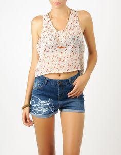 #Blusa estampado corta y con botones Double Agent por 14€ en www.doubleagent.es #ropa #verano #nice