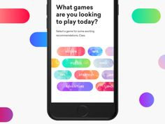 App filters pills discover categories