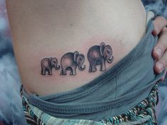 elephant outline tattoo - Google Search