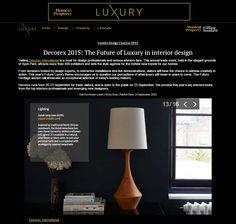 Evening Standard Luxury - Asilah (Natural) table lamp Natural Table Lamps, Luxury Homes, London, Interior Design, Elegant, Luxurious Homes, Nest Design, Classy, Luxury Houses