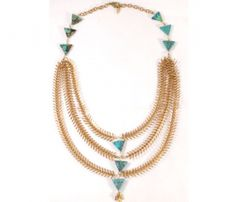 Rose and Turquoise Bib Necklace