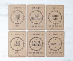 Baby Milestone Cards x30 Recycled Kraft Card by BlossomStudioUK